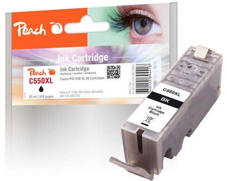 Peach XL-Tintenpatrone schwarz kompatibel zu Canon PGI-550, PGI-550PGBK XL