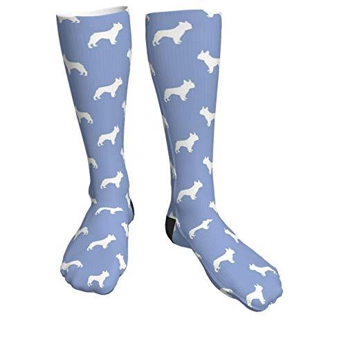Calcetines de compresión para perros de Bulldog francés, estilo cerúleo, clásicos, deportivos, atléticos de 50 cm, para hombres y mujeres