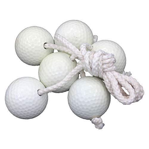 VORCOOL 3 Paar Toss Spiel Bälle Perforierte Plastikbälle Golfpraxis Training Sport Schnur bälle (Weiß)