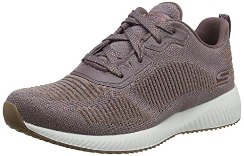 Skechers Womens Bobs Squad-Glam League Trainers, Morado (Mauve Engineered Knit/Rose Gold Trim Mve), 6 UK (39 EU)