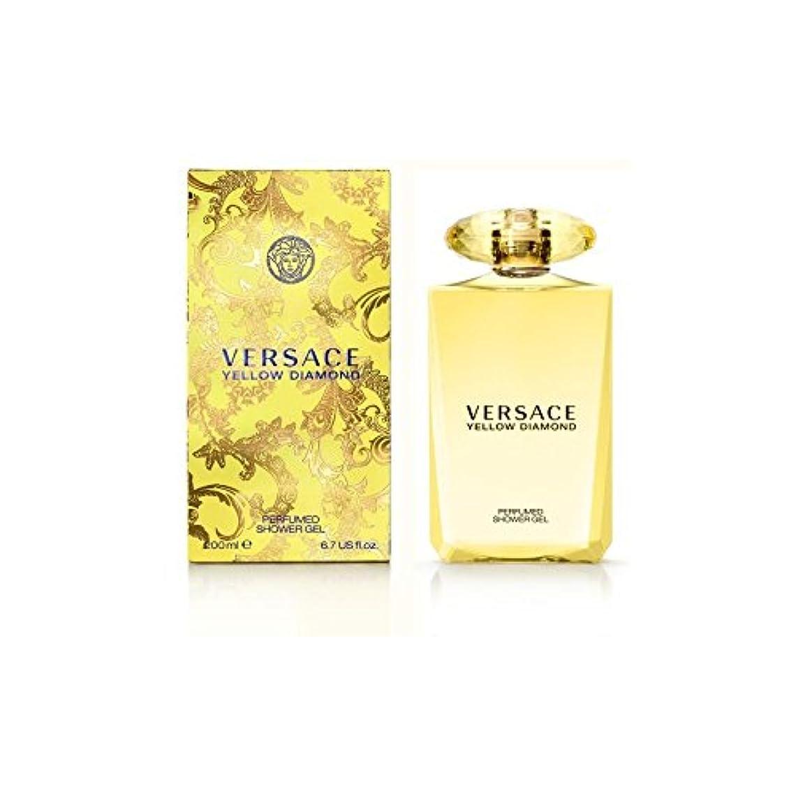 北東一貫した薬ヴェルサーチ黄色のダイヤモンドバス&シャワージェル200 x4 - Versace Yellow Diamond Bath & Shower Gel 200ml (Pack of 4) [並行輸入品]
