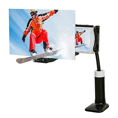 Keyboards Splint Type 12'Bildschirmlupe Für Mobiltelefone, 3D-HD-Movie-Bildschirmverstärker Für Mobiltelefone, 360 Rotating Lazy Phone Holder, Für Filme/Videos/Spiele(Color:EIN,Size:14inch-20cm)
