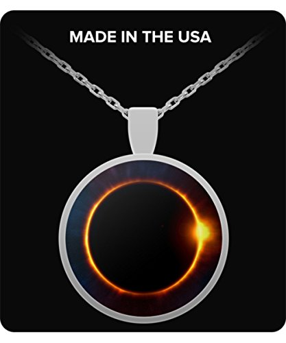 Uncle Seal Eclipse Moon Necklace - Sun Covering The Moon - Amazing Gift - Creative