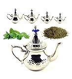 DAMAIA DMKJFFF Tetera árabe INOX - Estilo marroquí Tetera - Acero Color : 2 (F2)
