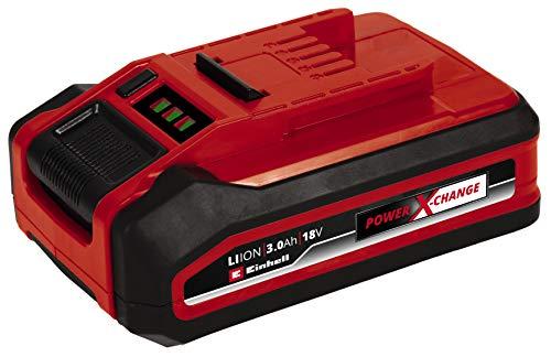 Originale Einhell 3,0 Ah Plus Power X-Change Batteria (Ioni di Litio, 18 V, Utilizzo Universale in Tutti I Dispositivi Della Famiglia Power X-Change, Più Potenza per Lavori ad Alte Prestazioni)