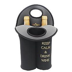 Wine Carrier Tote Bag- Durable Neoprene Wine/water Bottle Tote