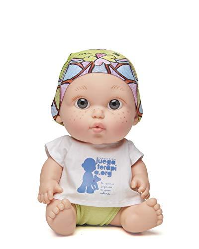 Juegaterapia Muñeco Baby Pelón, Diseñado por Laura Pausini, Juguete Solidario con Olor a Vainilla-20 x 10 x 20 cm Arias SL