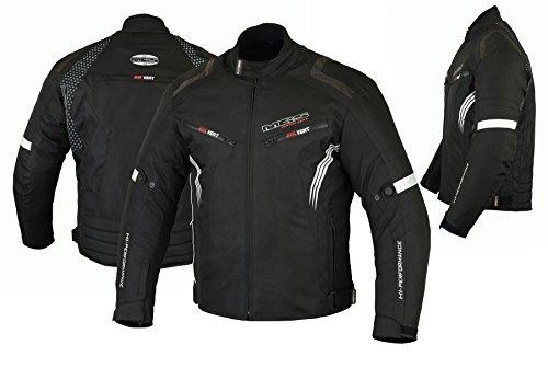 MBSmoto MJ22 Max Motorcycle Motorbike Short Textile Chaqueta de turismo (Negro, S)