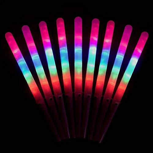 Bettying LED Zuckerwattestäbe Leuchtend, Marshmallow Sticks LED-Zuckerwatte-Zapfen für Kinder Große Party Halloween Weihnachtskonzerte