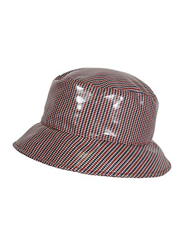 LOEVENICH modischer Pepita Damenhut aus Lack, Farbe: Marine/rot