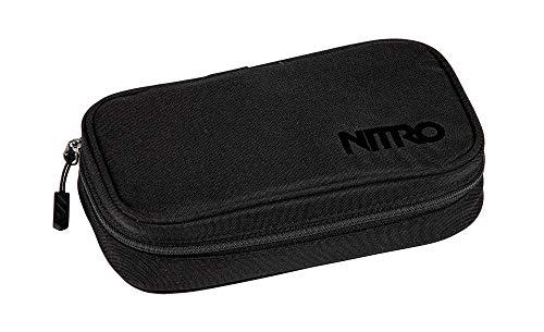 Nitro Pencil Case Xl Inkl. Geo Dreieick & Stundenplan, Federmäppchen, Schlampermäppchen, Faulenzer Box, Federmappe, Stifte Etui, True Black