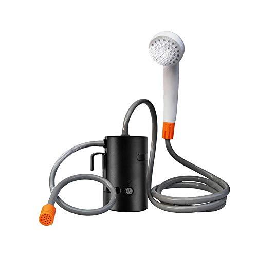 Kit de douche de camping portable - Douche de camping - Douche de camping avec pompe submersible - Pour la douche privée, douchette à main pour le camping, la randonnée, les voyages, les urgences Noir