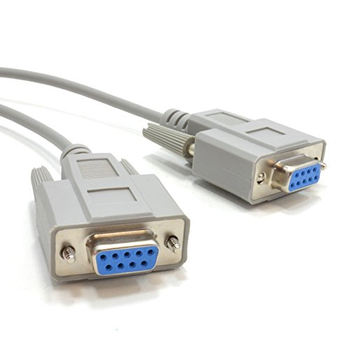 kenable Serial RS232 Null Modem Cable - DB9F to F - 2m (~6 feet)