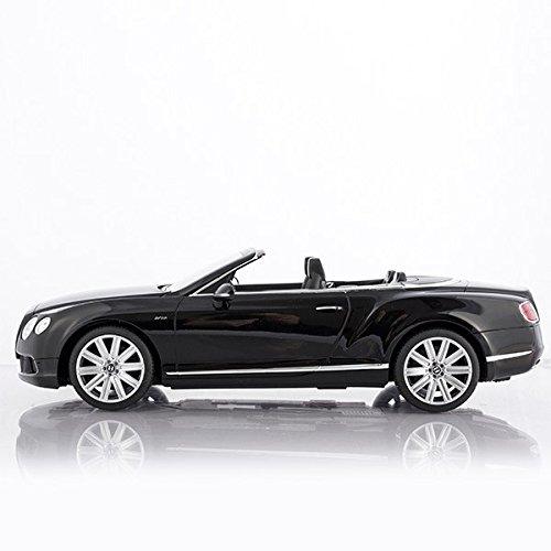 RC Auto kaufen Spielzeug Bild: Cabrio Bentley Continental GT schwarz ferngesteuert mit LED-Licht - Maßstab 1:12*