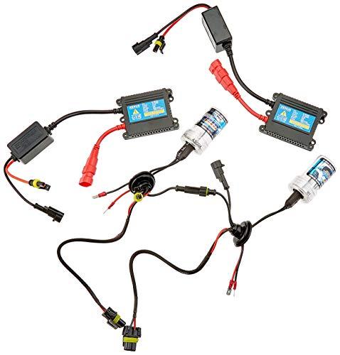 Akhan Digital 9-32V 35W CANBUS Xenon Kit Nachrüstsatz H1 4300 Kelvin inkl. HID Vorschaltgerät, Xenon Brenner Lampe und Montage Material ohne Fehlermeldung und ohne Flackern