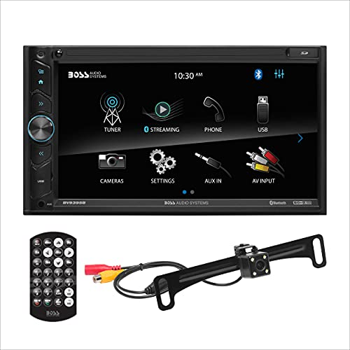 BOSS Audio Systems BVB9395RC Car Multimedia Receiver - A-Link (Screen Mirroring), Bluetooth Audio and Hands-Free Calling, 6.95 Inch Touchscreen, Double Din, USB, SD, No CD DVD, Backup Camera Included