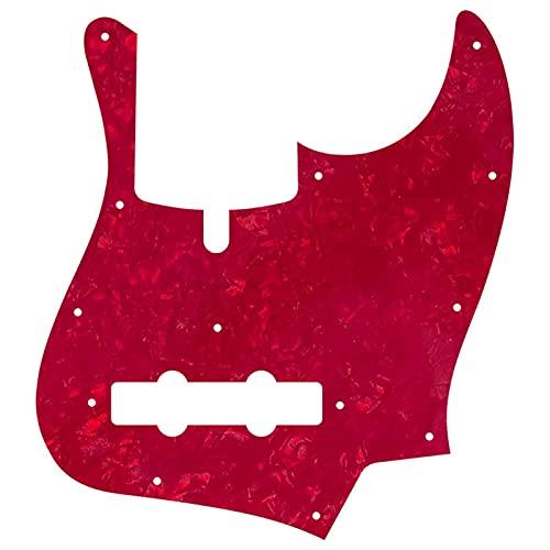 ZYZYZY PickGuard para Los Tornillos De 11 Orificios 5 Cuerdas Jazz Bajo Guitarra Pickguard Scratch Plate Golpeador Guitarra Repuesto (Color : 4Ply Red Pearl)