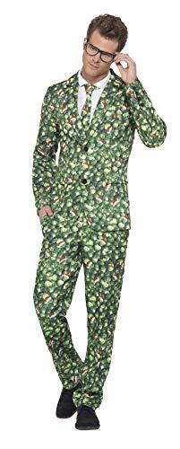 Smiffy's-41010M Disfraz de Col de Bruselas, con Chaqueta, Pantalones y Corbata, Color Verde, M-Tamao 38'-40' (41010M)