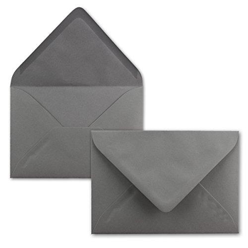 Brief-Umschläge in Graphit-Grau/Dunkelgrau - 50 Stück - DIN C5 Kuverts 22,0 x 15,4 cm - Nassklebung ohne Fenster - Weihnachten, Grußkarten - Serie FarbenFroh®