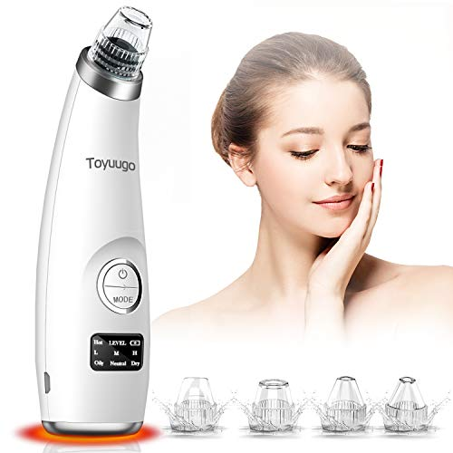 blackhead vacuum remover acne remover, toyuugo Facial Pore Cleanser Electric Acne Comedone, 3 Adjustable Suction Power, USB Rechargeable, LED Screen Blackhead Extractor Tool for Women and Men