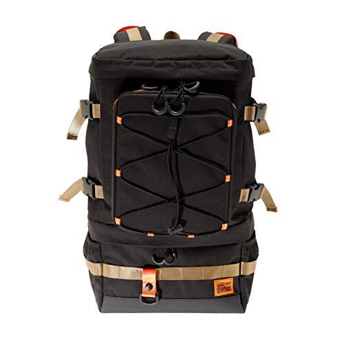 釣り リュック 防水 多機能 大容量 フィッシングバッグ ロッドホルダー 釣りバッグ タックルバッグ ブラック ゴールド (ブラック/ゴールド)