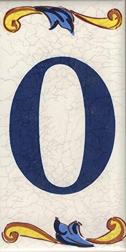 Toro del Oro – Hausnummer für Wohnhäuser – Hausnummer aus glasierter Keramik, Handbemalt in spanischer