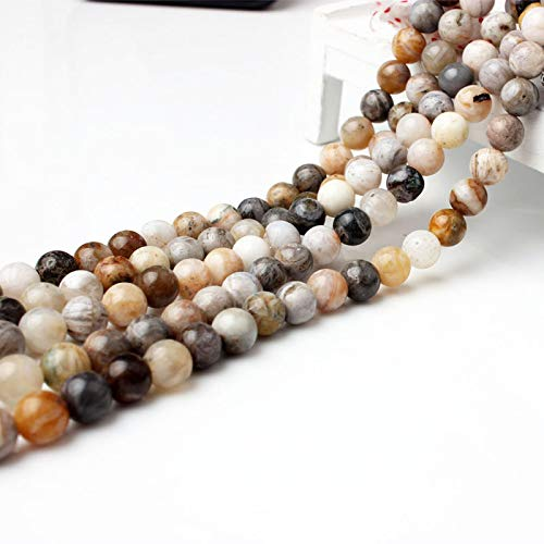 4 6 8 10 12Mm Fashion Natural Jewelry Colorful Crazy Agates Stone Loose Beads DIY Men And Women Bracelet Necklace Make Crazy Agate 6mm 63beads