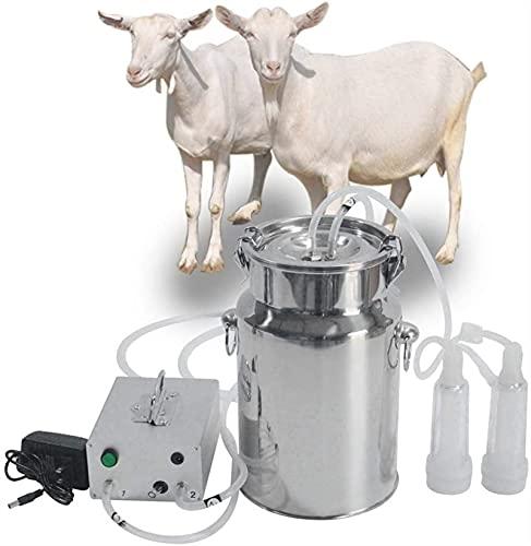 SKYWPOJU Ordeñadora eléctrica, máquina de ordeño eléctrica Ordeñadora portátil de Acero Inoxidable para ovejas Vacas para ordeñar, almacenar y Transportar Leche Fresca (Color : Sheep, Size : 5L)