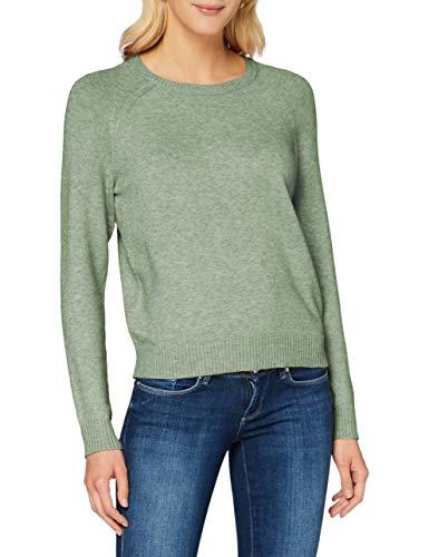 ONLY NOS Damen Pullover onlLESLY Kings L/S KNT NOOS, Grün (Basil), 38 (Herstellergröße: M)