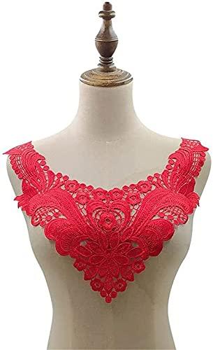 XinYiC Encaje apliques escote ramillete flequillo borde bordado costura artesanía vestido de...