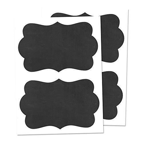 50 Pezzi, Etichette Adesive per Barattoli Vetro, Etichette di Lavagna, Cancellabile - 150 x 100 mm