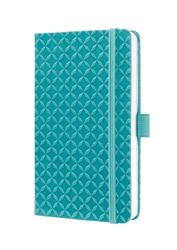 Sigel JN102 - Libreta Jolie rayada con tapa dura, A6, color turquesa