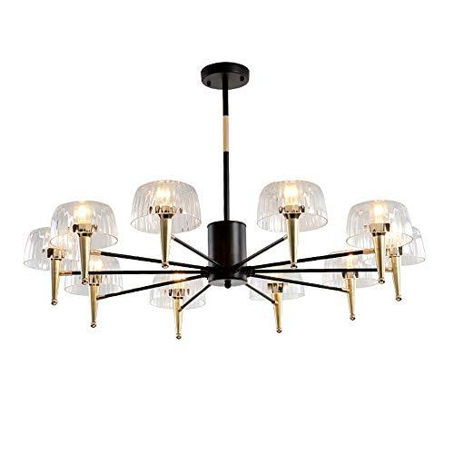 LG Snow 105 × 105 × 25 cm medusas lámpara colgante LED techo lámpara E14 * 10 luz cálida moderna minimalista dorado negro decoración del hogar sala dormitorio