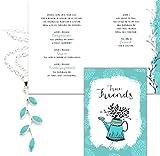 Best Smiling Wisdom Friend Gifts Silvers - Smiling Wisdom - Light Blue Silver Vine Friendship Review