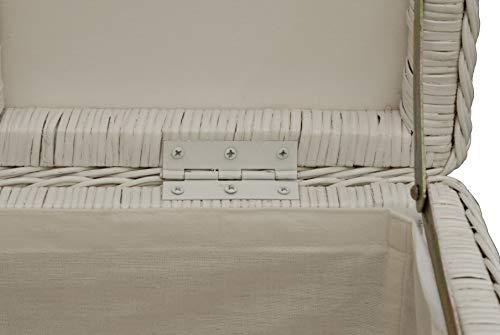 Spielzeugtruhe/Wäschetruhe aus Rattan in der Farbe grau groß - 4