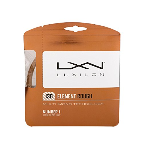 Luxilon Unisex Tennissaite Element Rough, bronze, 12,2 Meter, 1,30 mm, WRZ997130