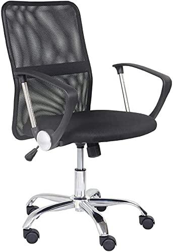 GOLDFAN Mesh Computer Desk Chair Office Chair High Back Swivel Chair Height Adjustable Swivel Desk Chair Ergonomic Lumbar Support (Black, 1)
