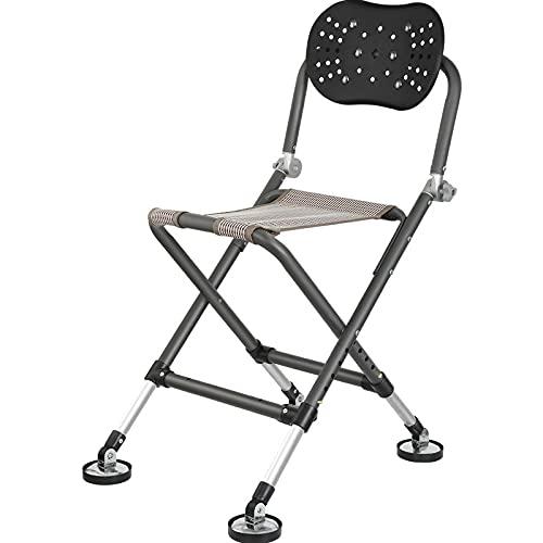 Silla de pesca plegable plegable de la silla de camping multifunción plegable silla de pesca portátil para el taburete de la barbacoa plegable de aluminio Camping Portátil silla ligera ( Color : A )