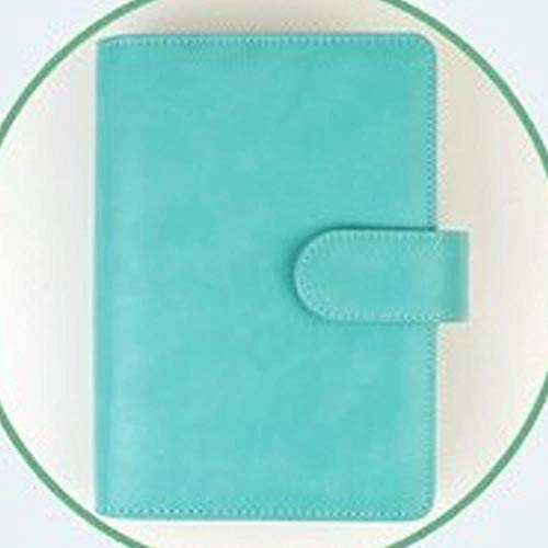 TOSISZ Vintage Leather Notebook A5 A6 Retro PU Notebook Dairy Personal Planner Agenda with 25mm Dia Ring Office & School Supplies,TIFFANY Blue,A6 with filler pages