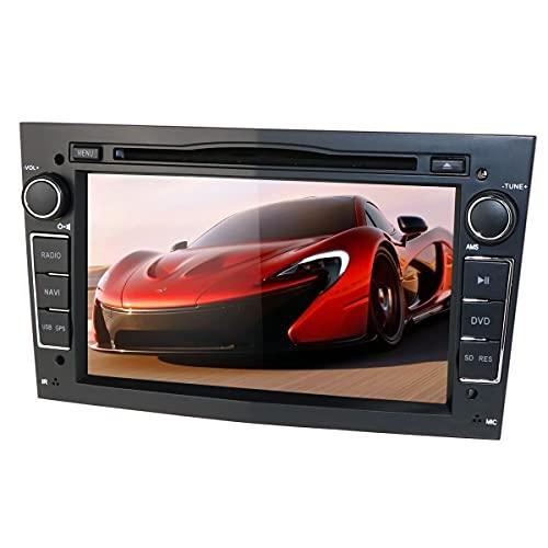 Reproductor de DVD estéreo DIN Car Doble con Pantalla de 7 Pulgadas Mirror-Link Bluetooth GPS RDS SWC SD Reproductor Multimedia de música/Radio/Video para Opel Antara Combo Zafira (Negro)…
