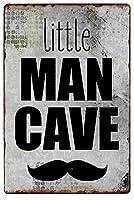 男の洞窟ヴィンテージスタイルメタルサインアイアン絵画屋内 & 屋外ホームバーコーヒーキッチン壁の装飾 8 × 12 インチ