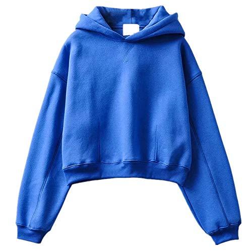 N\P Otoño e Invierno Mujer Casual y Versátil Suéter Con Capucha Suelto Color Sólido Chaqueta