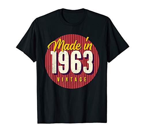 57. Geburtstag Geschenk Vintage Made in 1963 T-Shirt