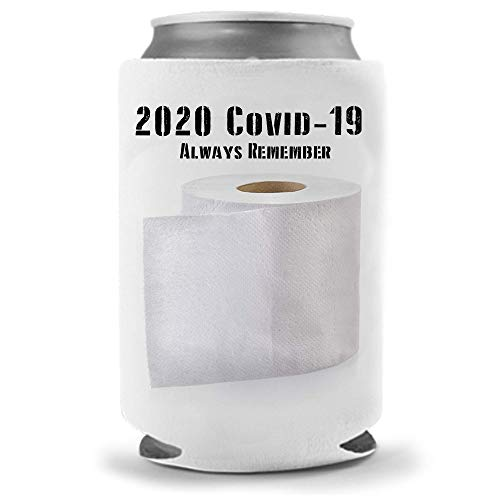 Cool Coast Products - CoronaVirus Too Soon Coolie | Virus Corona Drunk Funny Novelty Beverage Huggie | Beer Beverage Holder | Beer Cat Gifts | Quality Tailgaiting Neoprene Can Cooler (Toilet Paper)