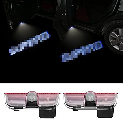 Luces de estacionamiento 2pcs DIRIGIÓ Luz de puerta de coche Luz cortesía compatible con Skoda Superb 2 Mk2 Superb 3 Lámpara de señal de puerta de coches Lámpara de proyector Light Light Luz de bienv