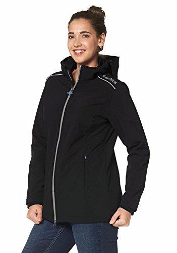 KangaROOS Damen Softshelljacke Softshell Jacke (44, Schwarz)