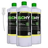 BiOHY Teppichshampoo (3x1l Flasche) + Dosierer | Teppichreiniger ideal zur Entfernung von hartnäckigen Flecken | SPEZIELL FÜR WASCHSAUGER ENTWICKELT