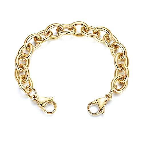 linnalove -Acero inoxidable oro cable cadena lntercambiables pulseras de alerta médica -Just Chain (CK03/6)