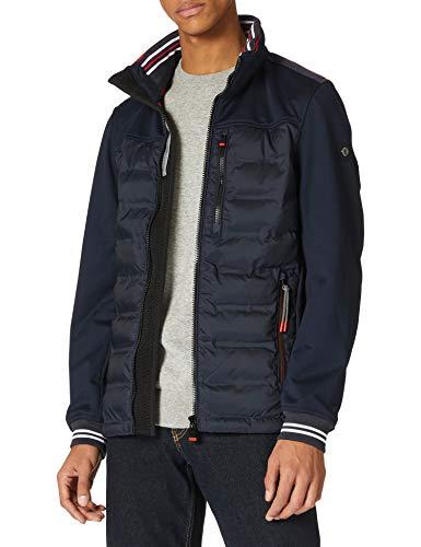 TOM TAILOR Herren 1024070 Hybrid Jacke, 10668-Sky Captain Blue, XXL