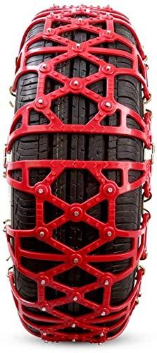 WYJW Cadenas de Nieve Cadenas de neumáticos Cadena de tracción de neumáticos Antideslizante para neumáticos Tracción de Emergencia portátil Fácil de Montar para turismos, camionetas y S